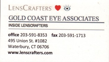 Gold coast eye associates waterbury ct ct business list business card print card gold coast eye associates reheart Gallery